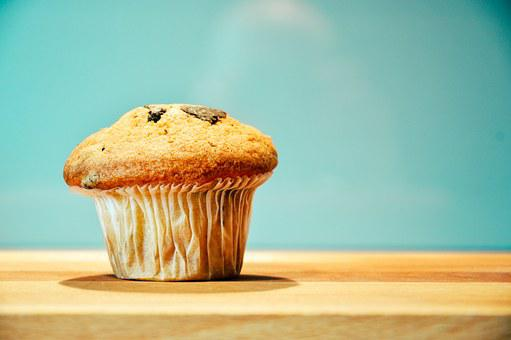 Food, Snack, Treat, Muffin, Wooden
