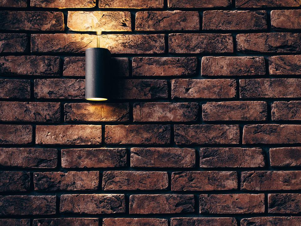 Wall, Lamp, Grunge, Interior, Design, Decor, Light