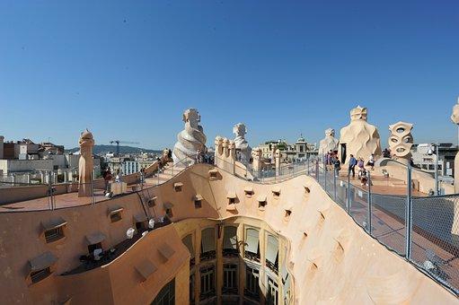 Terraza edificio La Pedrera Barcelona