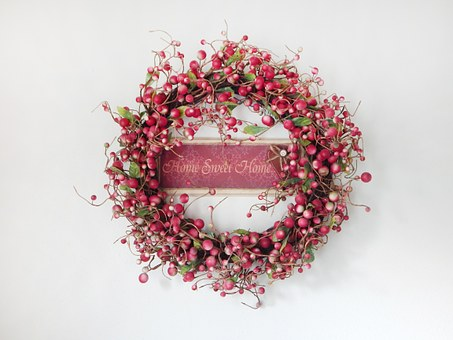 Wreath, Home, Interior, Decoration