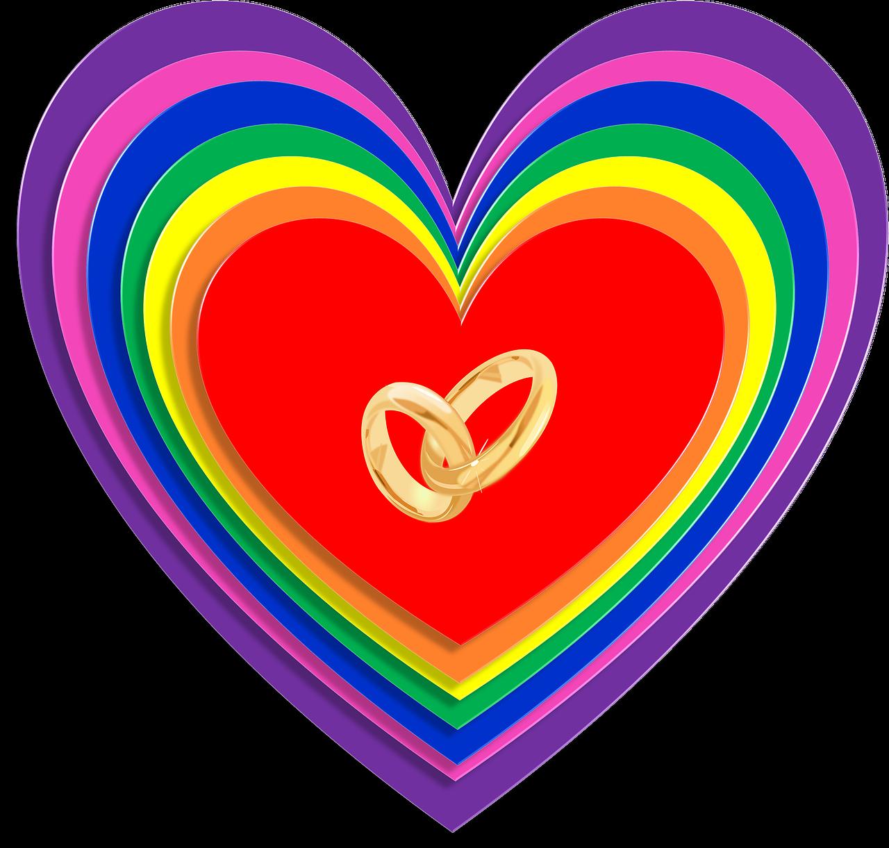 Картинка радуга и сердце