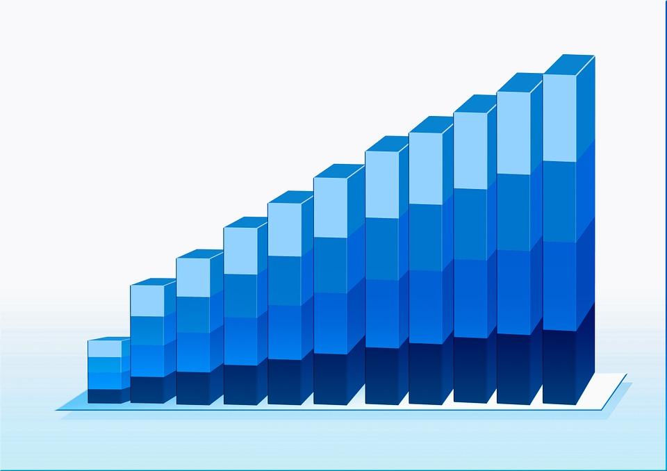 統計情報, チャート, グラフィック, バー, シンボル, 矢印, 方向, トップ, トレンド, 地球