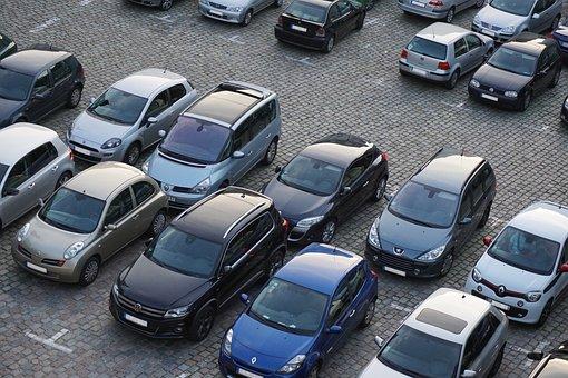 駐車場, 自動車, 車, トラフィック, 市, 公園