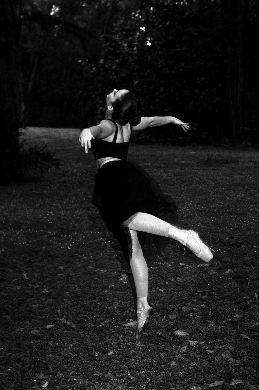 Нецветные фото балерина