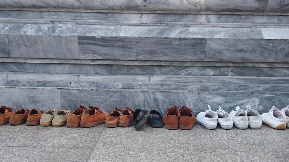 Temple, Religion, Worship, Shoe, Student