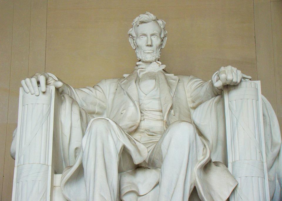 林肯纪念堂, 雕像, 华盛顿特区, 亚伯拉罕 · 林肯, 符号, 里程碑, 历史, 美国, 雕塑