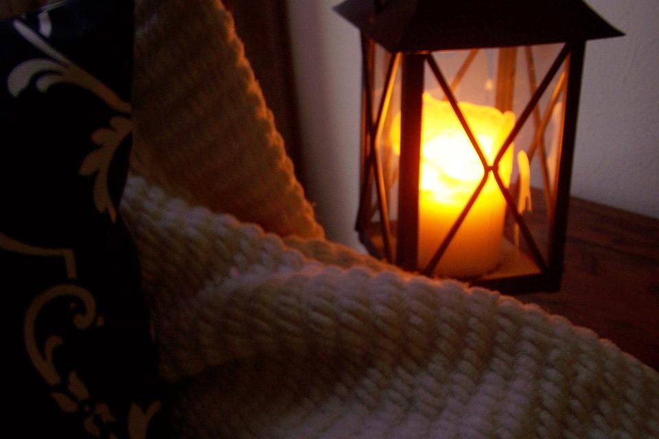 Lanterna, Vela, Cobertor, Cozy
