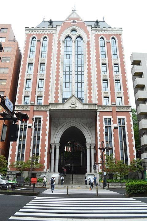 日本, 大学, 東京, 学校, ストリート, アベニュー, 慶應義塾大学