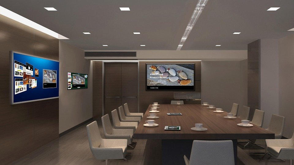Great Interior Design Tv Multi Screen Office