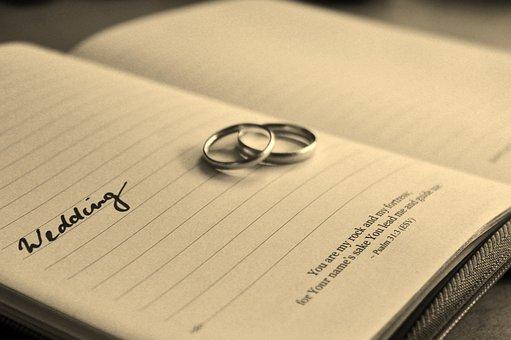 結婚式, 結婚式の日, 結婚指輪, 結婚, 幸福, 愛, 信頼, 約束する