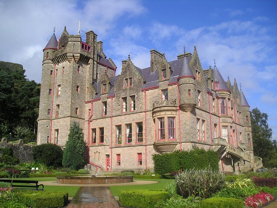 Burg, Belfast, Norden, Irland, Wahrzeichen, Garten
