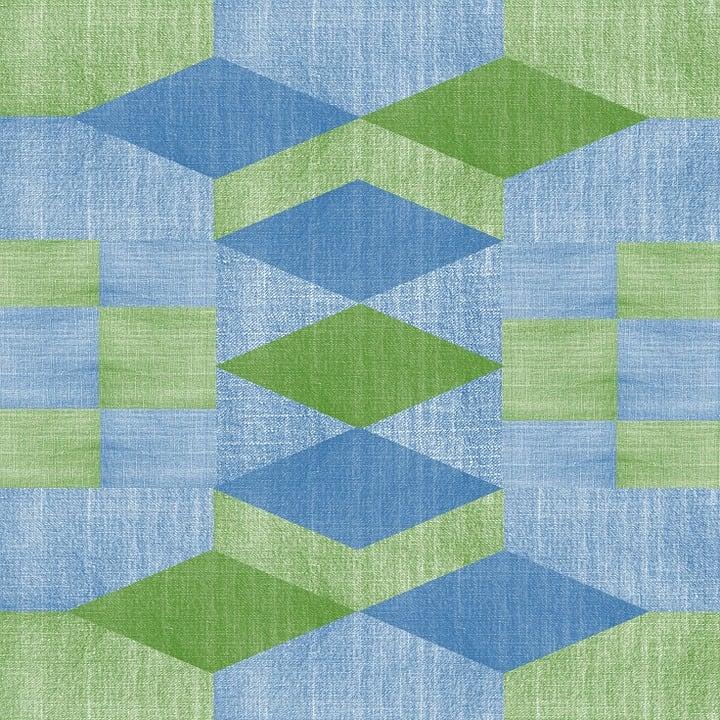 Denim Fabric Texture Design Geometric Green Blue