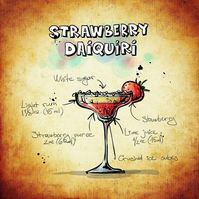 Strawberry Daiquiri Cocktail Drink 183 Free Image On Pixabay