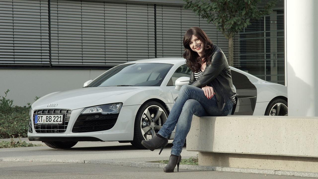 Business Woman Audi R8 Free Photo On Pixabay