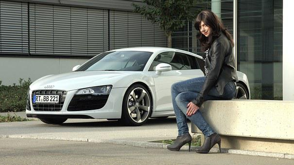 Business Woman, Audi, R8, V10