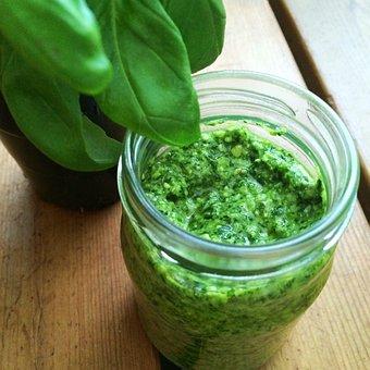 Basil, Pesto, Green, Organic, Mat