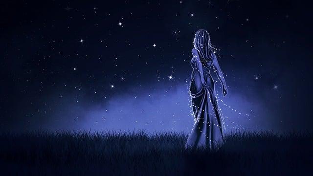 Night Moon Romance Love Stars Sky Clouds Wallpaper: Illustration Gratuite: Fond D'Écran, Arrière Plan, Nuit
