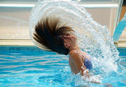 Swimming Pool, Drops Of Water