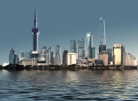 スカイライン, 市, 水, 波, 川, 建物, 高層ビル, アーキテクチャ, 家