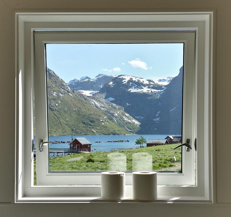 kostenloses foto fenster aussicht norwegen. Black Bedroom Furniture Sets. Home Design Ideas