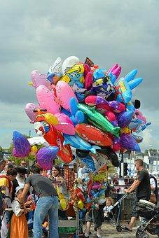 Balloons, Games, Festival, Fair, City