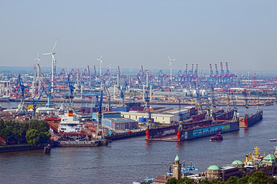 Hamburg Port Cranes · Free photo on Pixabay