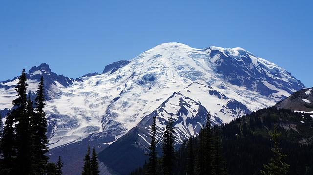 Free Photo Mountain Mount Rainier Washington Free