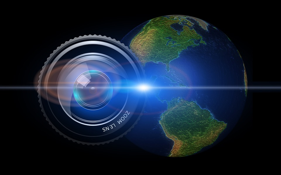 Free Illustration Lens Camera Earth Globe Usa Free