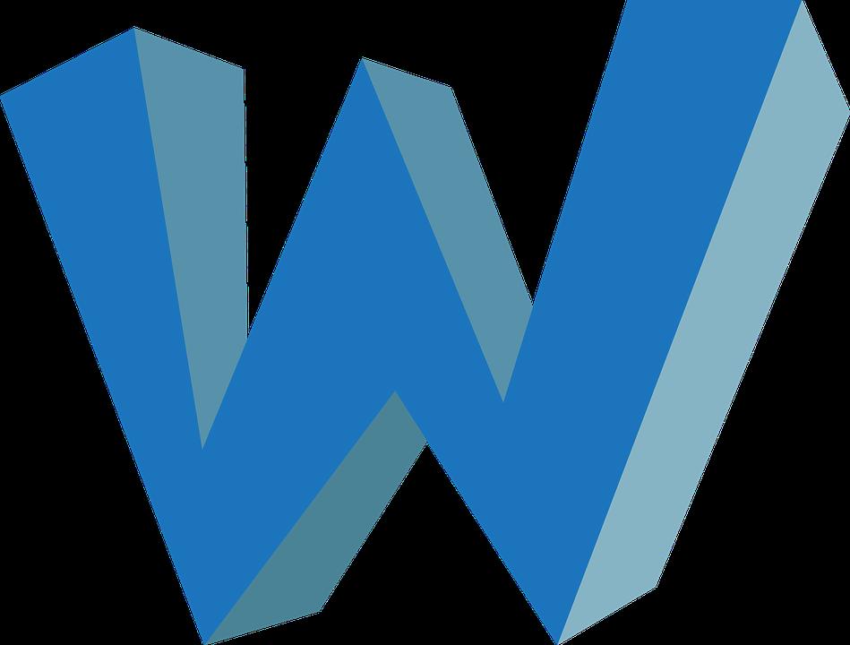 W Alphabet Abc Free Vector Graphic On Pixabay
