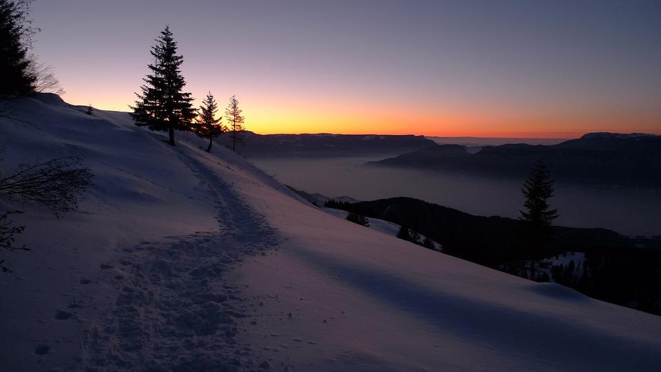 Schnee, Wetter, Wanderweg, Winter, Herbst, Sonnenwende