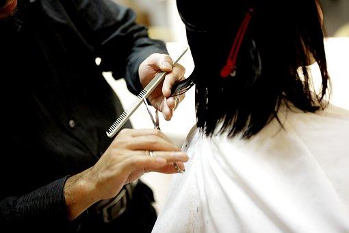 散髪, ヘアーカット, 美容室, コーム, 櫛, ハサミ, 美容師