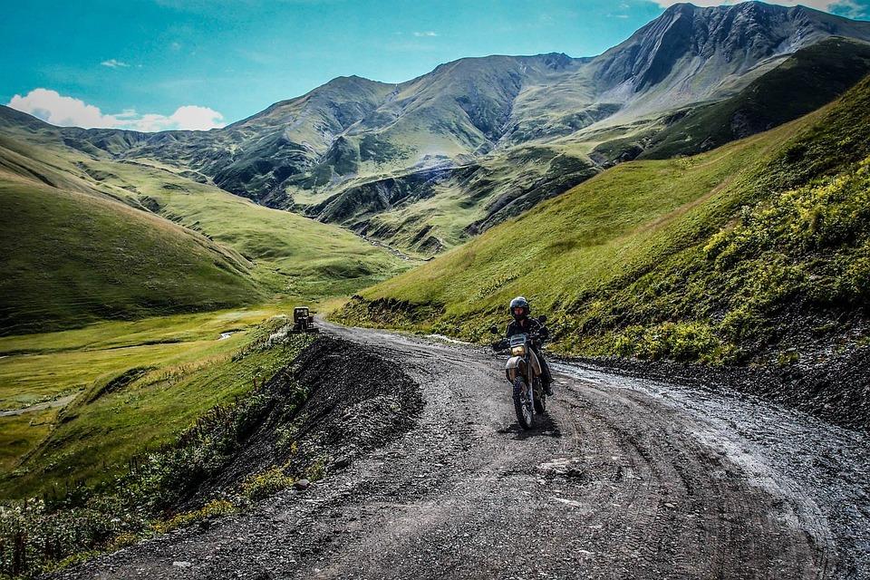 motorcycle mountain road landscape free photo on pixabay