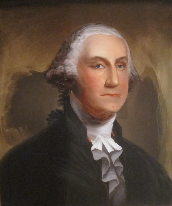 Painting, George, Washington, Reverse, Glass, William