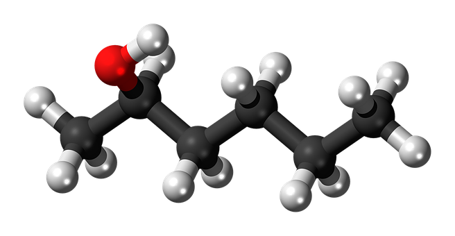 Hexanol, Model, Molecule, Carbon, 3D