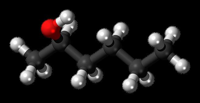 Hexanol, Model, Molecule, Carbon, 3D