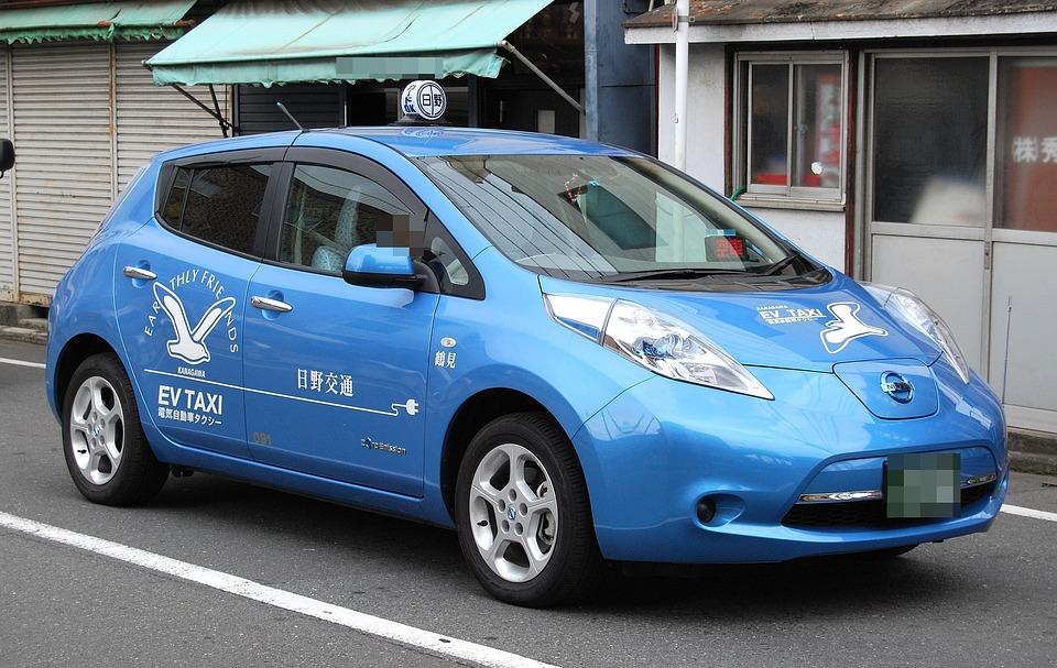 Nissan, Leaf, Environmentally, Car, Street, Vehicle