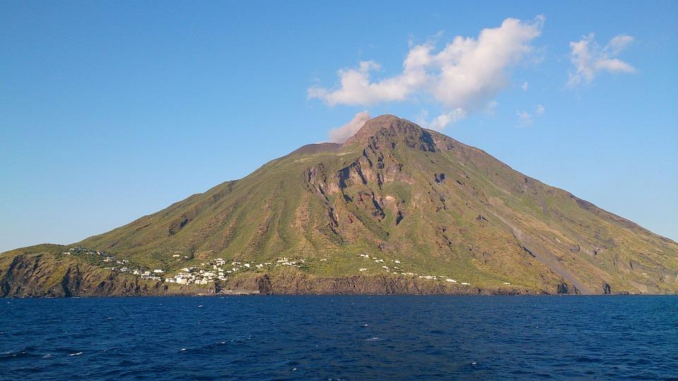 Volcanic Island North Of Sisily
