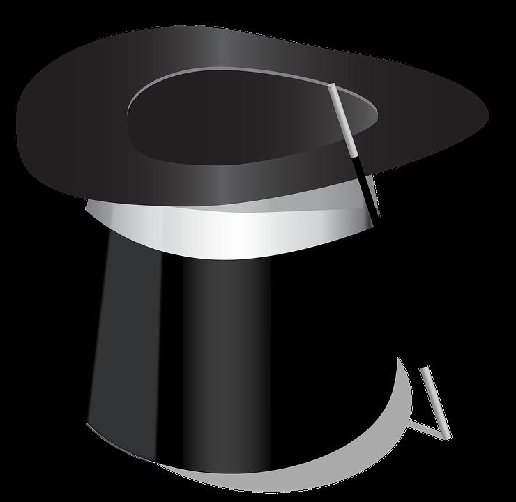 Chapeau haut de forme magicien image gratuite sur pixabay - Dessin de chapeau de magicien ...