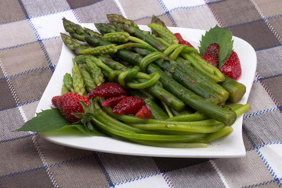 Verdure, Asparagi, Piastra, Tempo Di Asparagi