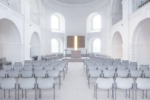 Church, Space, Chairs, Wedding Hall