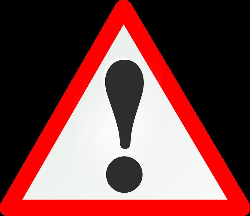 Warnung, Schild, Gefahr, Achtung, Straßenschild