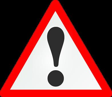 警告, シールド, リスク, 注目, 道路標識, 交通標識, 赤