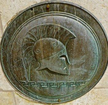 Plaque, Roman, Bronze, Emboss, Medal