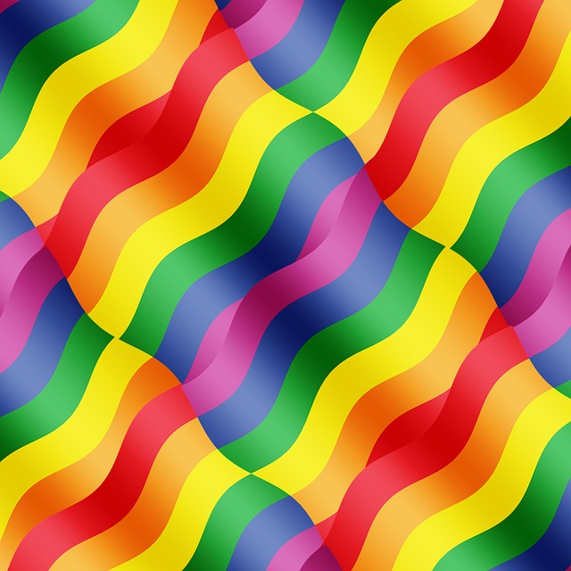 free illustration rainbow colors wave curve free
