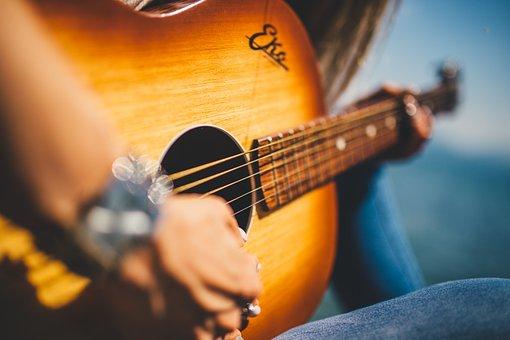 Guitar, Music, Female, Girl, Musician