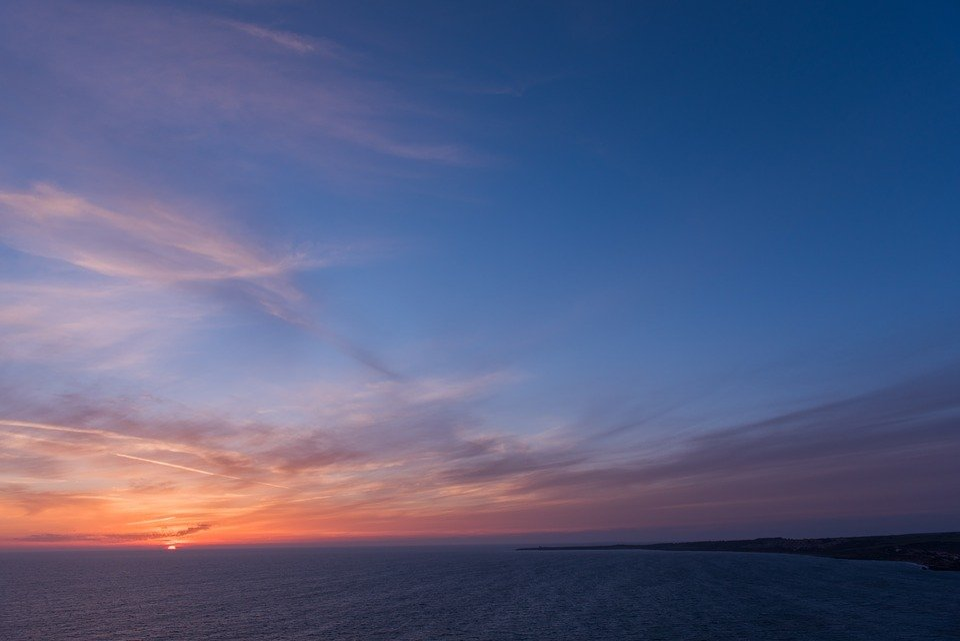 Photo gratuite ciel oc an coucher de soleil mer image gratuite sur pixabay 839221 - Coucher de soleil en mer ...