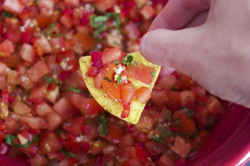 Salsa Nachos Mexican Appetizer Hot Snack S