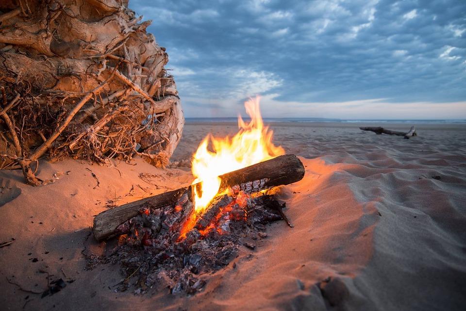 Campfire, Fire, Beach, Bonfire, Heat, Flame, Burn, Hot
