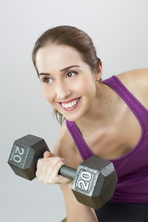 Exercise, Weight, Woman, Sport, Girl, Training, Smile