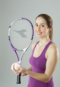 Tennis, Girl, Woman, Portrait, Smile
